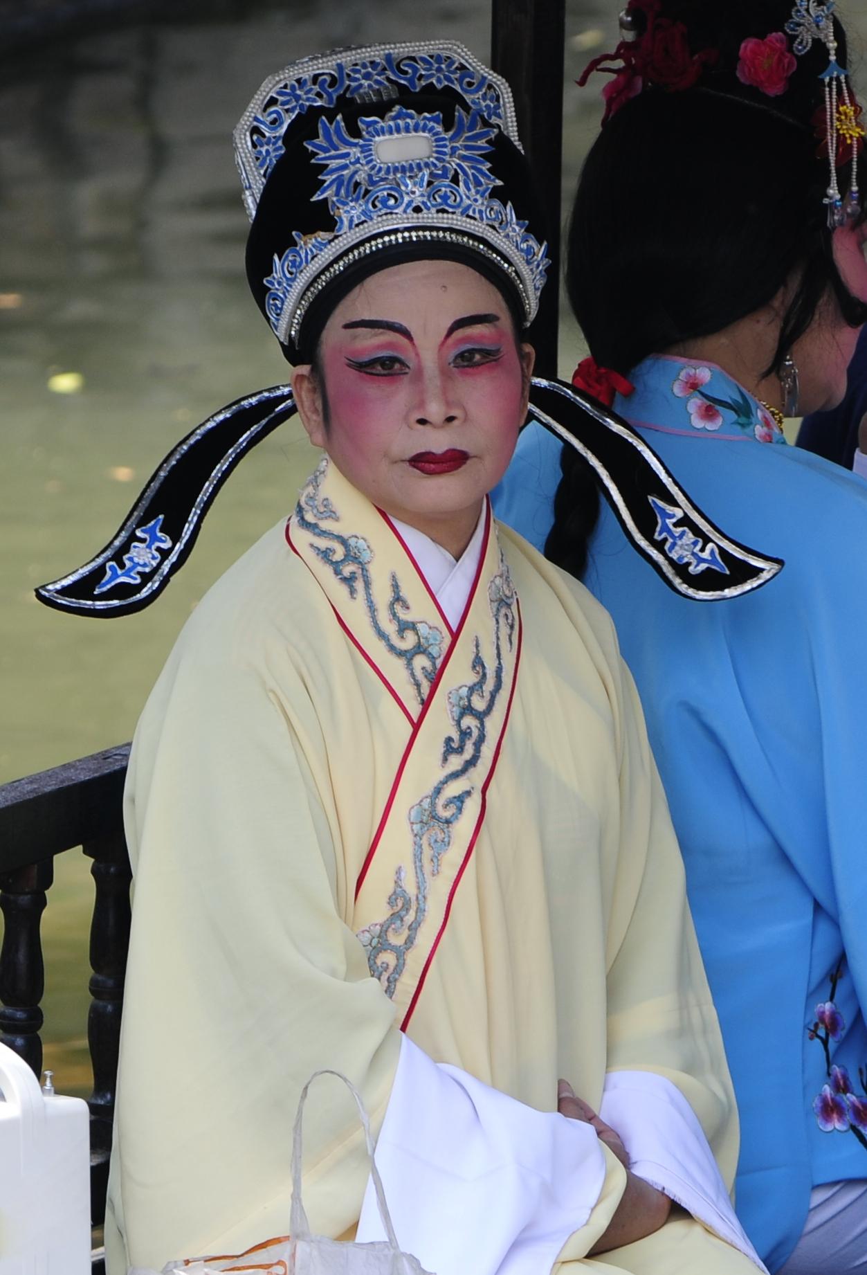 Opéra chinois à Nanxun, Zhejiang, Chine