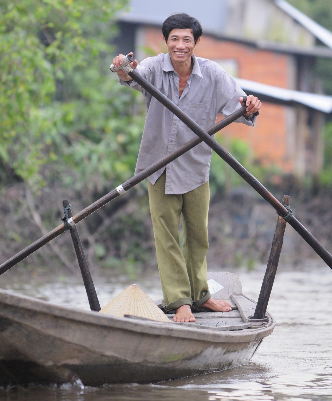 Vinh Long, delta du Mékong, son marché et ses canaux
