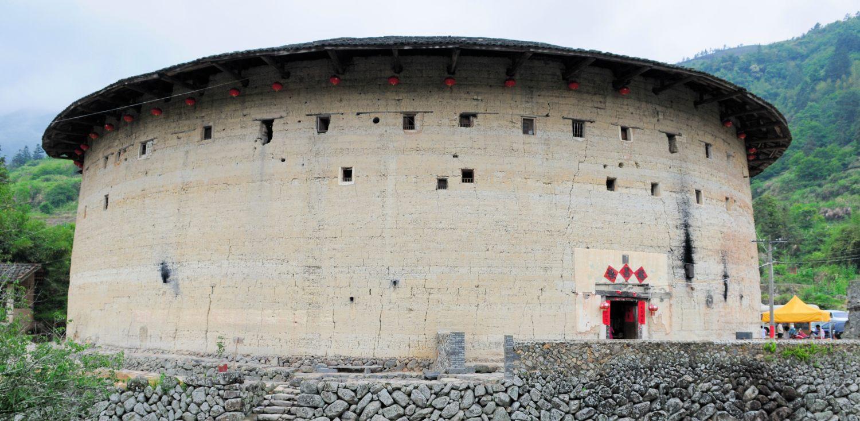 Xià Bǎn Tǔ Lóu 下坂土楼 et le village Tǎxià 塔下, Fujian, Chine
