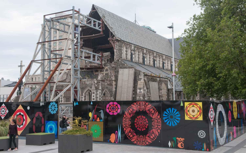 Christchurch, Nouvelle-Zélande, un centre-ville dévasté par le tremblement de terre de 2011