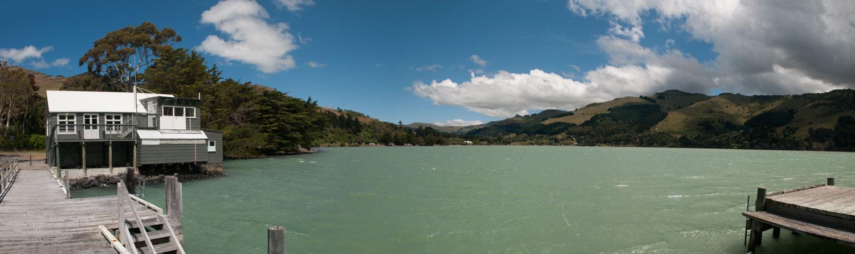 Nord-Ouest de la «Banks Peninsula», Canterbury, Nouvelle-Zélande