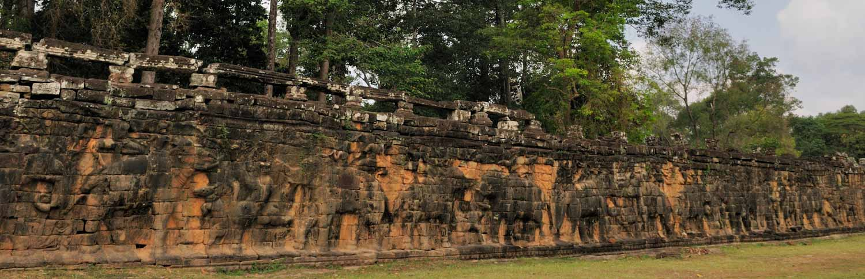 Terrasse des éléphants, Angkor Thom, Cambodge