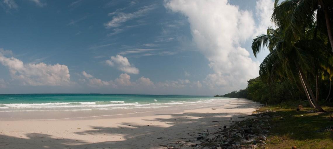 Merk Bay, North Passage Island, Iles Andaman : balade en bateau depuis Long Island