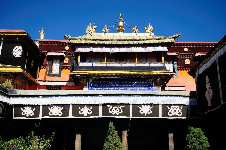 Le monastère Jokhang, Dàzhāo Sì 大昭寺, Lhasa, Tibet