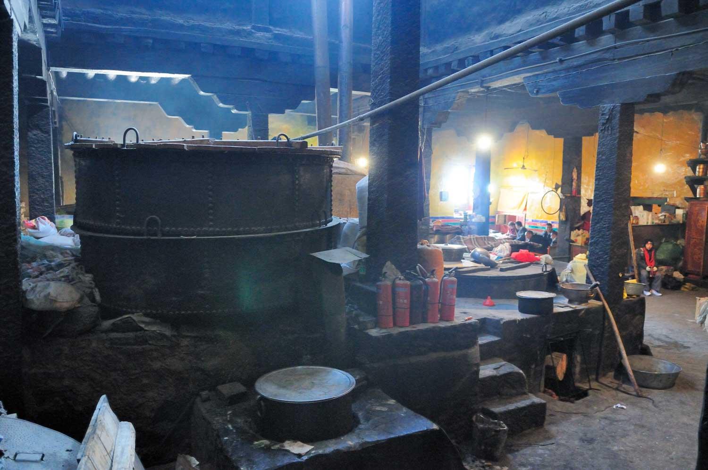 Monastère Drepung, Zhé Bàng Sì 哲蚌寺, Lhasa, Tibet : La cuisine