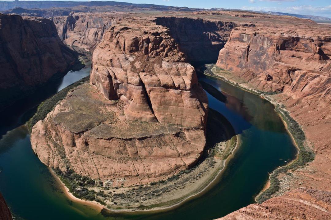 horseshoe bend vue spectaculaire ouest américain