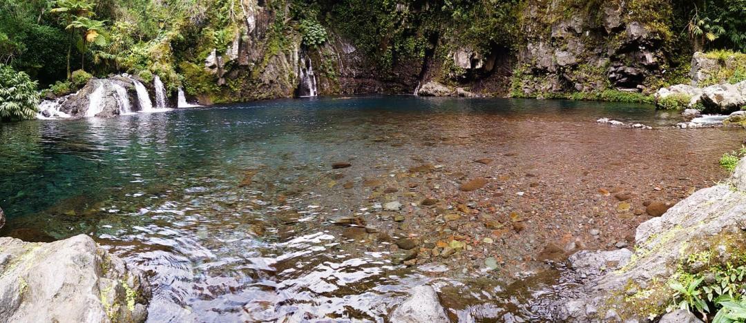 cascade langevin célèbre sur l'île de la réunion