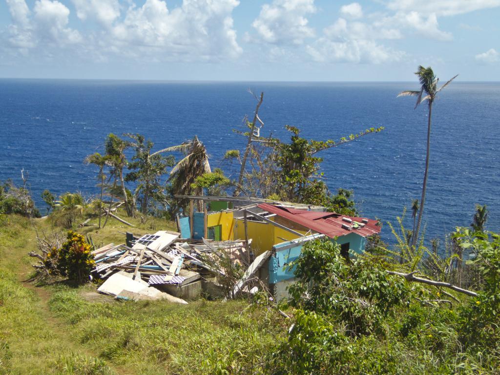 la dominique, ile des caraibes ravagée par le cyclone