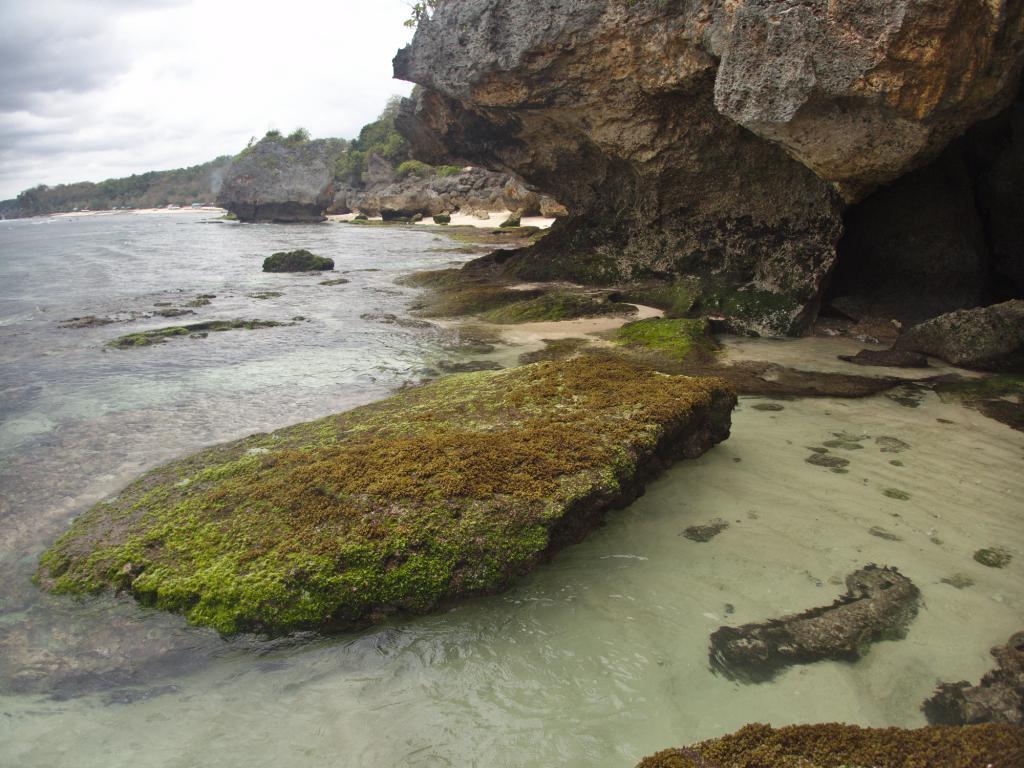 l'autre côté de la plage d'uluwatu à bali en indonésie