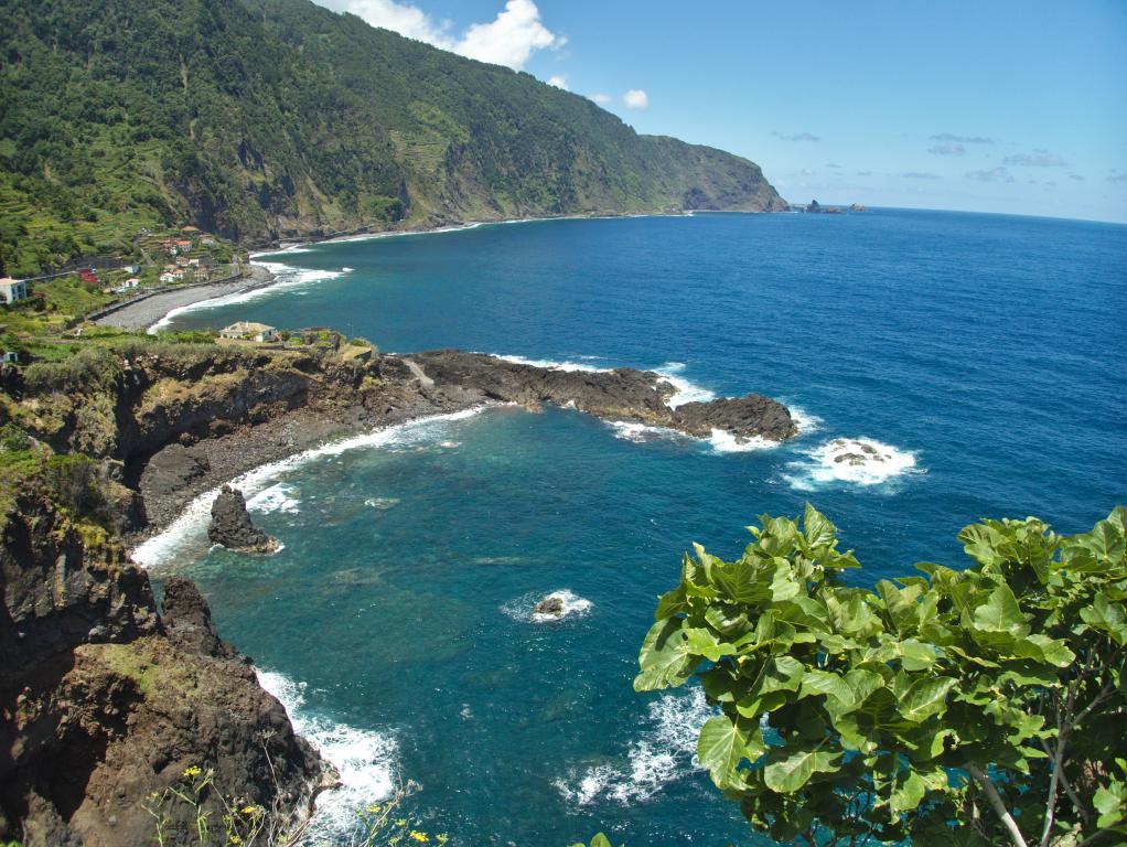 randonnée côtière vers seixal sur l'île de madère