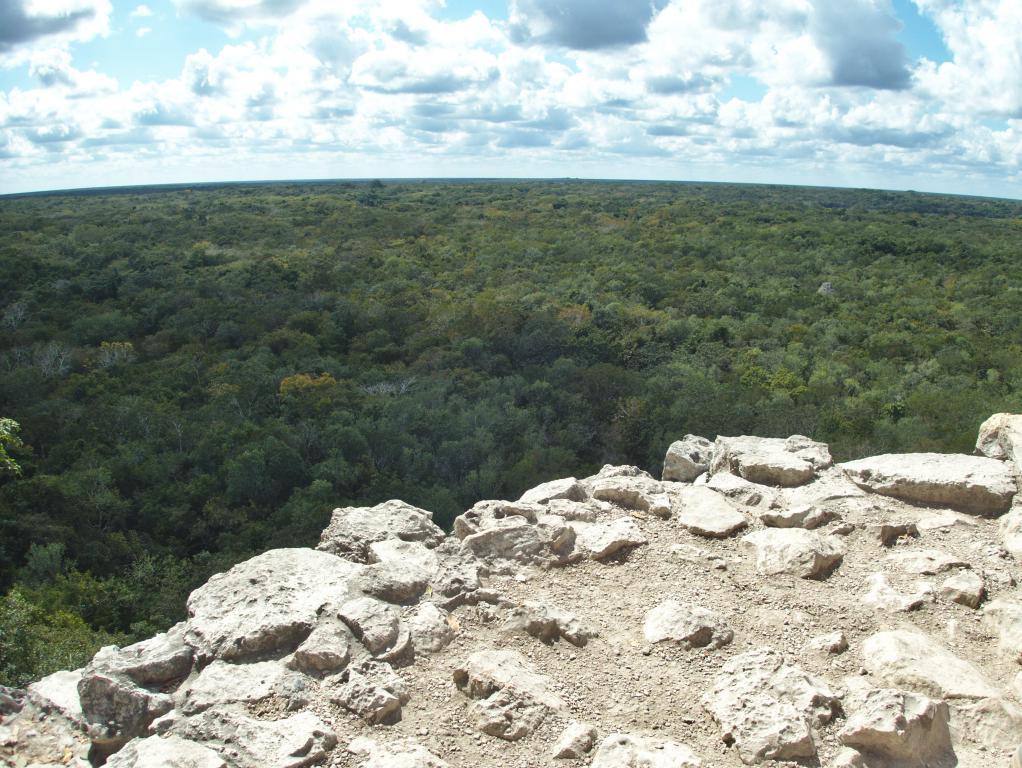 Coba vue Yucatan depuis les ruines
