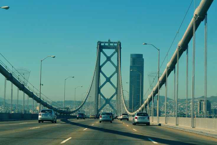 bridge cars driving oakland