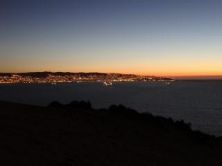 Primer contacto visual con Valparaíso desde la duna de Reñaca-Concón