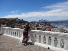 Vista desde el mirador en Cerro Alegre