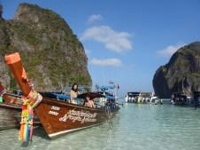 Con Feng y Sway, nuestros compis de buceo y de excursión a Phi Phi Ley