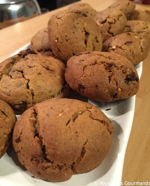 cookies chocolat beurre de cacahu te pralin blog voyageurs gourmands. Black Bedroom Furniture Sets. Home Design Ideas