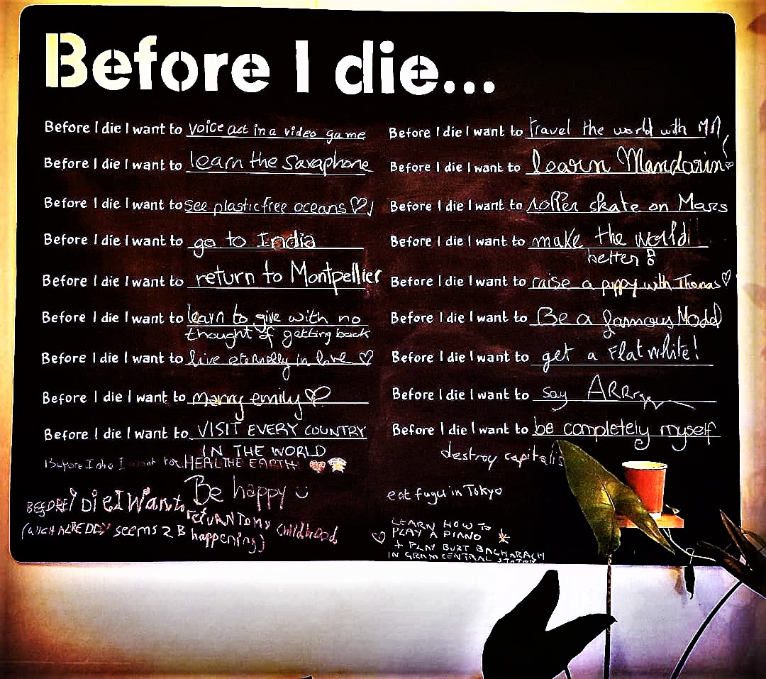 Before I die I want to... (Photo taken at le Bonobo, Montpellier)