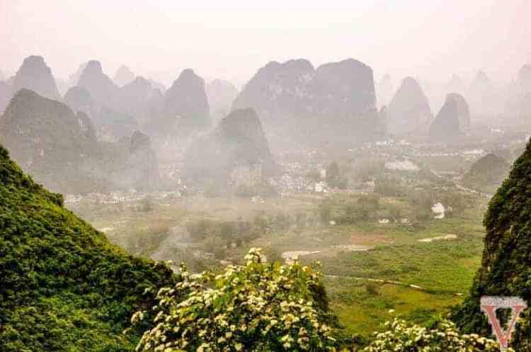 vue depuis moon hill yangshuo