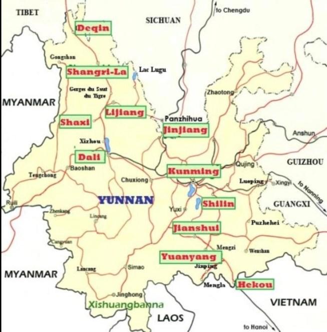 yunnan carte