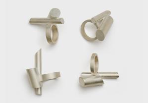Serie Röhrenringe, Silber