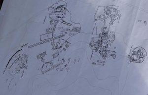 Plano del proyecto ambicioso de la zona arqueológica LAN-HA