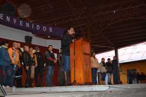La alcaldesa en su mensaje a los sanjoaquinenses