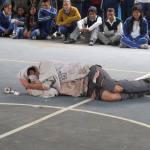 Combaten en Pinal de Amoles adicciones a través de obra teatral en secundaria de Ahuacatlán