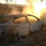 Fuego consume unidad de servicio público en El Marqués