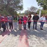 Iliana Montes entrega urbanización de calle en Arroyo Seco y continúan otras