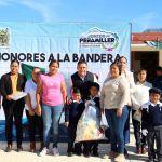 Entrega material didáctico y deportivo Juan Carlos Linares en Preescolar de Comunidad peñamillerense