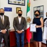 Alcalde Roberto Sosa, de Corregidora, convivió con nominada a uno de los mejores docentes del mundo y con joven campeón del boxeo