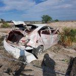 Sufren volcadura tres jóvenes de Piedras Negras en la 57