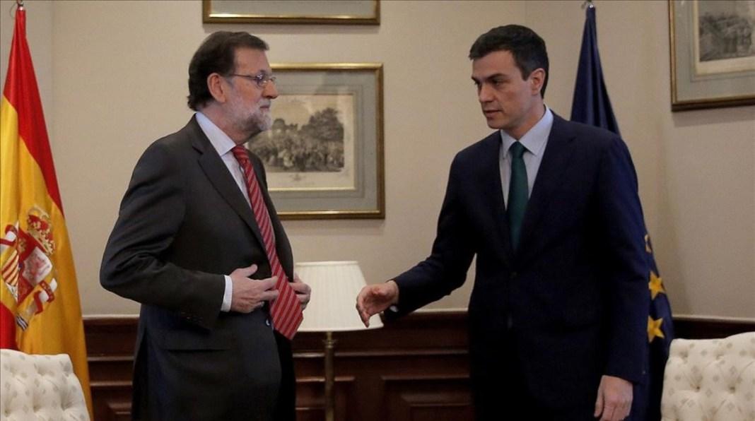 Pedro Sánchez y Mariano Rajoy en el Congreso