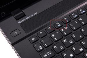 Кнопка, подключающая адаптер вайфай на Acer