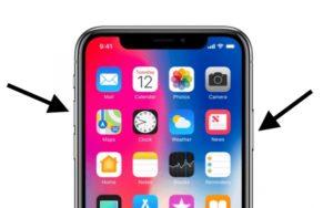 Принудительная перезагрузка телефона последней модели XS