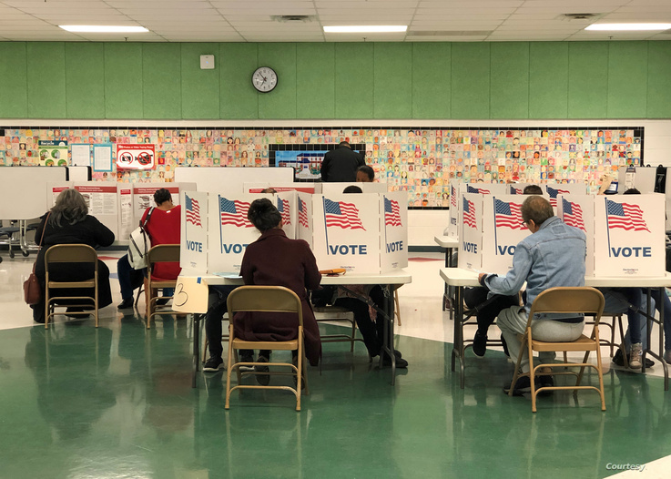 Voters cast their ballots at a polling station in Fairfax, Virginia, Nov. 5, 2019. (Photo: Diaa Bekheet)
