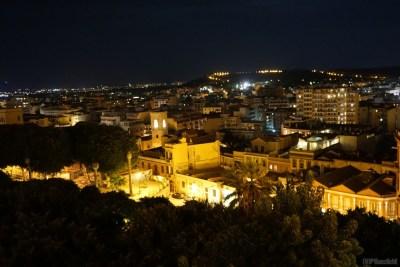Später Abend in Cagliari, Sardinien