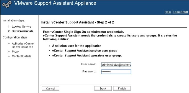 vcenter support assistant 5.5 - 20