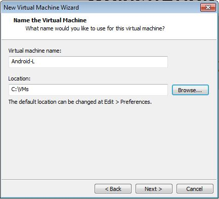 Android L on VMware Workstation - 5