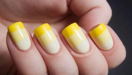 дизайн ногтей желтый цвет 2