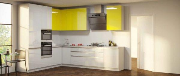 Крашеные фасады для кухни (49 фото): плюсы и минусы эмали ...