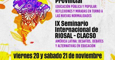 El 20 y 21 de noviembre se realizará  el Congreso Pedagógico Provincial y Seminario Internacional  organizados por SUTEF-Cefep y RIOSAL-CLACSO