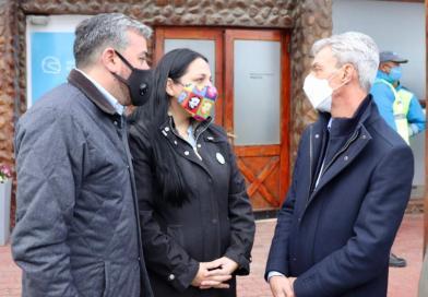 Tolhuin acompañó la visita del ministro de transporte de la nación Mario Meoni
