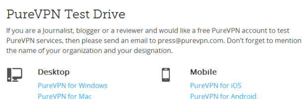 free trail of purevpn
