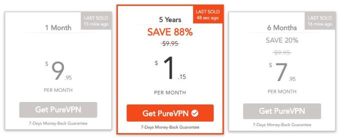 Get 5 years plan on PureVPN