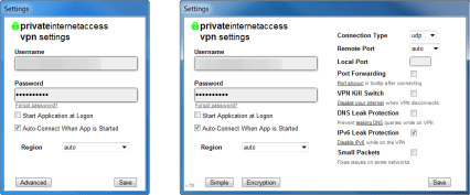 The features of Private Internet Access for Window