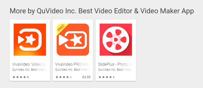 QuVideo inc apps for Android