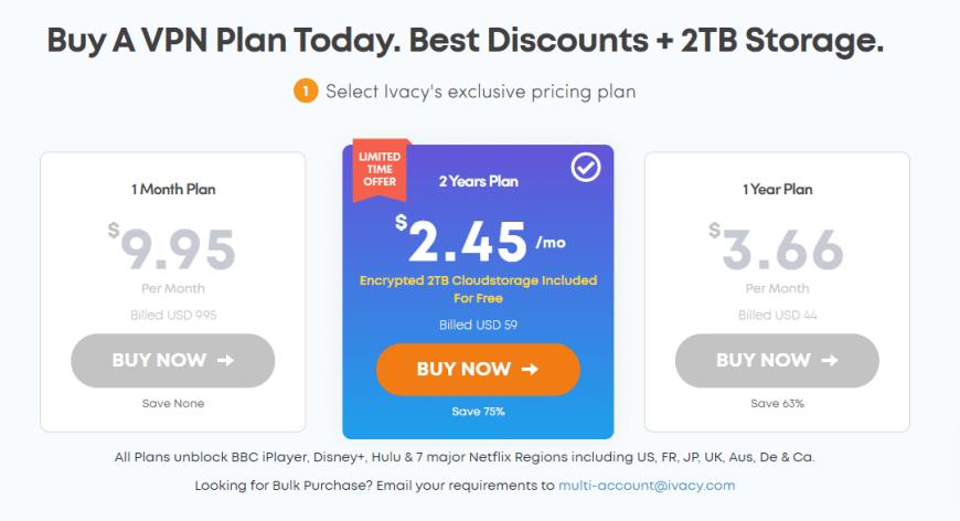 Buy A VPN Plan Today. Best Discounts + 2TB Storage.