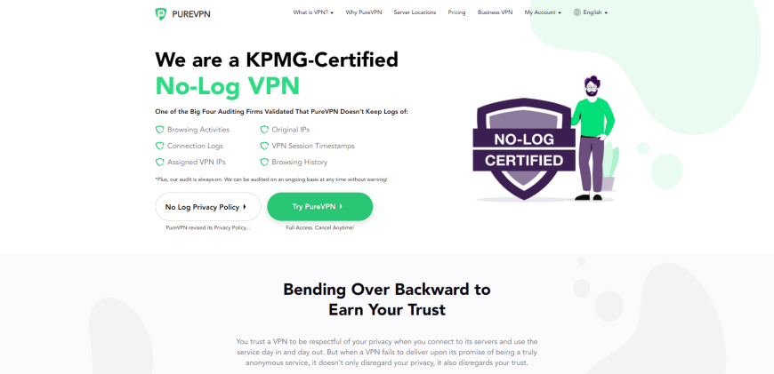 We are a KPMG-Certified No-Log VPN
