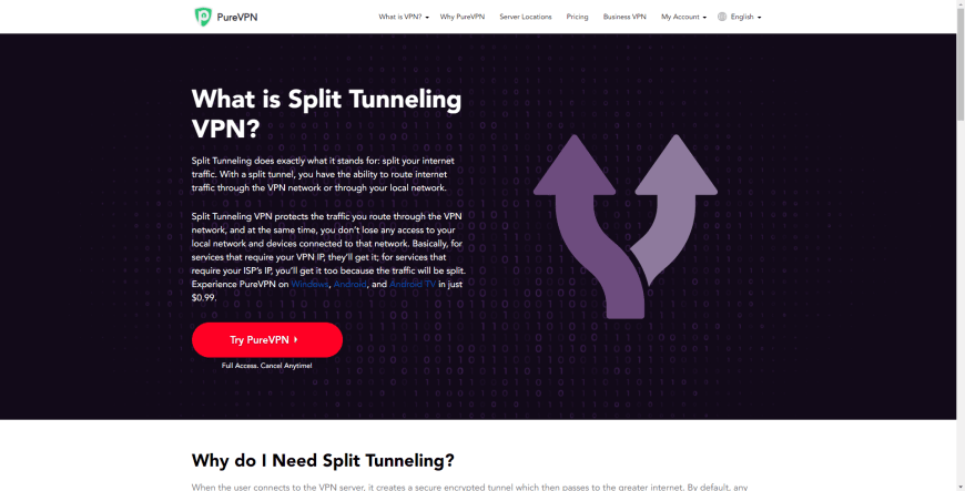 What is Split Tunneling VPN Explained PureVPN